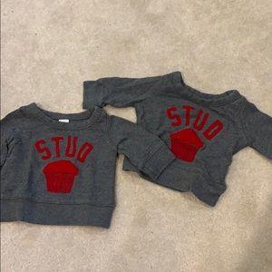 Stud muffin sweatshirts